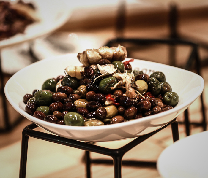 Olives from from Sagra Catering